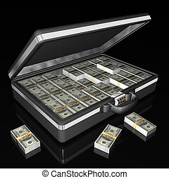 suitcase money - Briefcase full of One Hundred Dollar Bills
