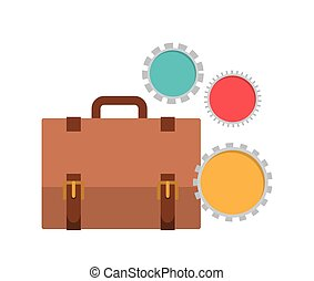 suitcase of businessman with white background