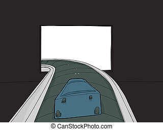 Suitcase on Baggage Carousel