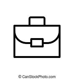 suitcase symbol line icon, Vector Illustration