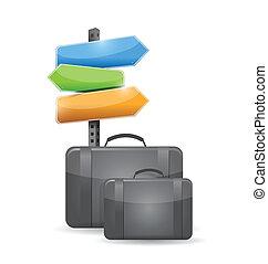 suitcase travel concept illustration design