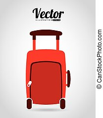 suitcase travel design, vector illustration eps10 graphic