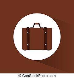 suitcase travel equipment icon