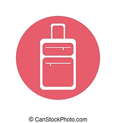 suitcase travel equipment pink button