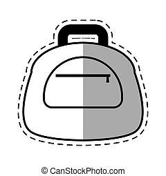 suitcase travel equipment shadow
