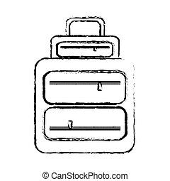 suitcase travel equipment sketch