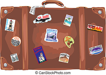 suitcase - traveling - trip of a lifetime, a trip around the...