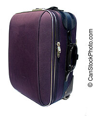 suitcase vertical - purple luggage