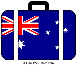 Suitcase with Australia Flag