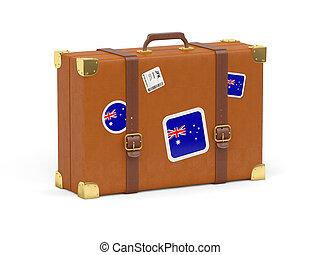 Suitcase with flag of australia