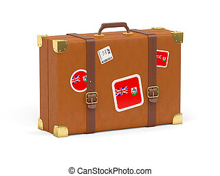 Suitcase with flag of bermuda