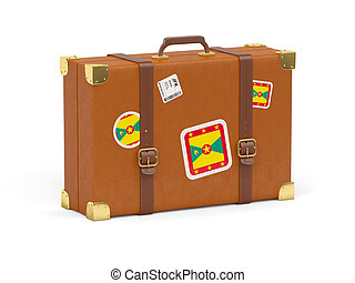 Suitcase with flag of grenada