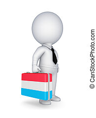 Suitcase with flag of Luxembourg.