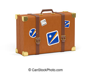 Suitcase with flag of marshall islands