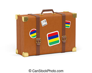 Suitcase with flag of mauritius - Travel suitcase with flag...
