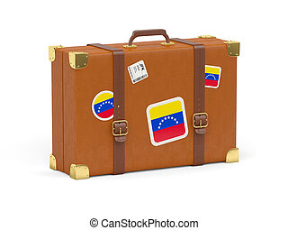 Suitcase with flag of venezuela