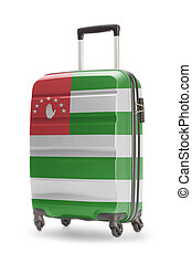 Suitcase with national flag on it - Abkhazia