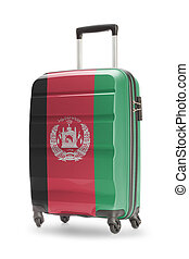 Suitcase with national flag on it - Afghanistan