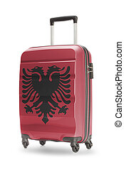Suitcase with national flag on it - Albania - Suitcase...
