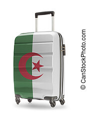 Suitcase with national flag on it - Algeria