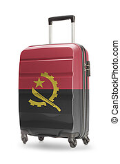 Suitcase with national flag on it - Angola