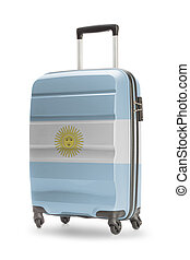 Suitcase with national flag on it - Argentina
