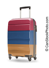 Suitcase with national flag on it - Armenia