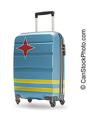 Suitcase with national flag on it - Aruba