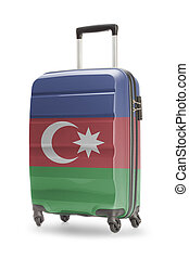 Suitcase with national flag on it - Azerbaijan