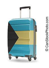 Suitcase with national flag on it - Bahamas