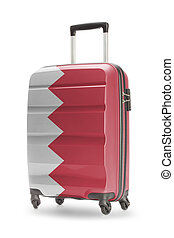 Suitcase with national flag on it - Bahrain