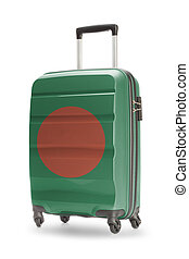 Suitcase with national flag on it - Bangladesh