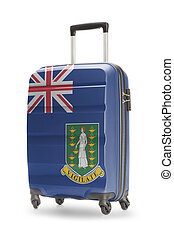Suitcase with national flag on it - British Virgin Islands
