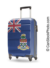 Suitcase with national flag on it - Cayman Islands