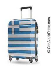 Suitcase with national flag on it - Greece - Suitcase...