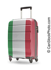 Suitcase with national flag on it - Italy