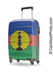 Suitcase with national flag on it - New Caledonia