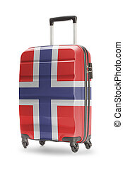 Suitcase with national flag on it - Norway - Suitcase...