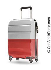 Suitcase with national flag on it - Poland - Suitcase...