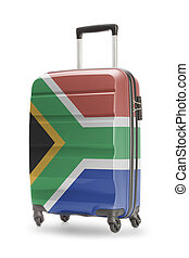 Suitcase with national flag on it - South Africa