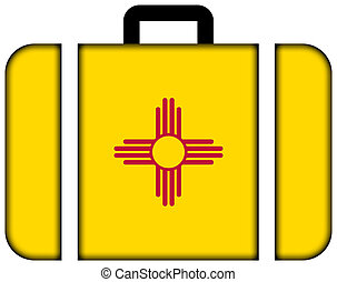 Suitcase with New Mexico State Flag
