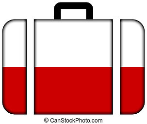 Suitcase with Poland Flag