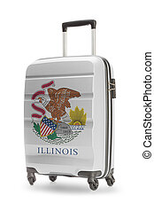 Suitcase with US state flag on it - Illinois
