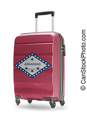 Suitcase with US state flag on it - Arkansas