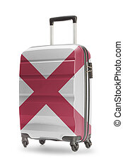 Suitcase with US state flag on it - Alabama
