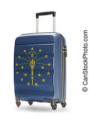 Suitcase with US state flag on it - Indiana