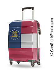 Suitcase with US state flag on it - Georgia
