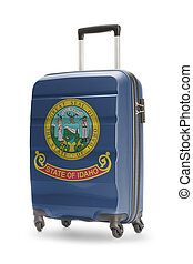 Suitcase with US state flag on it - Idaho - Suitcase painted...