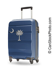 Suitcase with US state flag on it - South Carolina