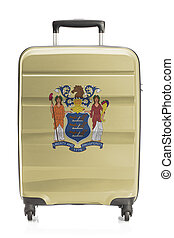 Suitcase with US state flag series - New Jersey